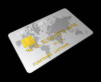 Silver credit card Stock Images
