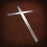 Silver cross Royalty Free Stock Photos