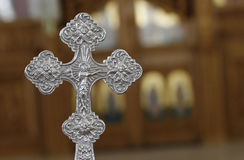 Silver cross Stock Photo