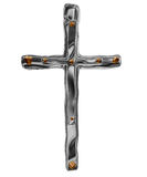 Silver cross Royalty Free Stock Image