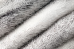 Silver cross mink fur texture macro Stock Photo