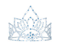 Silver crown with blue gems Stock Image