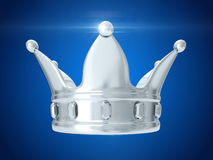 Silver crown. 3D rendering Royalty Free Stock Photo