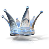 Silver crown isolated Royalty Free Stock Photo