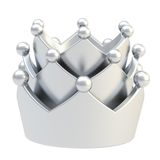 Silver crown isolated on white Stock Photography
