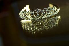 Silver crown with stones Stock Image