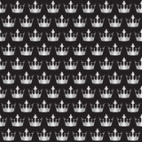 Silver crowns pattern Stock Images