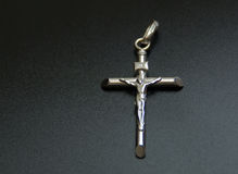 Silver Crucifix Stock Photos