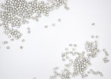 Silver crystal ball beads on the white background stock illustration