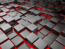 Silver Cubes Royalty Free Stock Photo