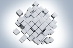 Silver Cubes Concept Stock Images