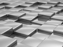 Silver cubes taxture Royalty Free Stock Photos