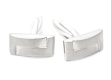 Silver cuff links Stock Images