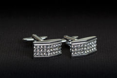 Silver cuff links Stock Photos