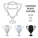 Silver Cup.Award the winner of the competition for second place.Awards and trophies single icon in cartoon style vector. Symbol stock web illustration Royalty Free Stock Image