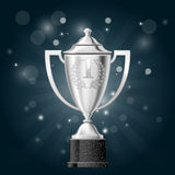 Silver cup with laurels - award Stock Image