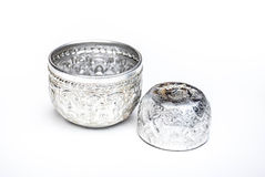 Silver Cup sailor striped luxury Royalty Free Stock Photography