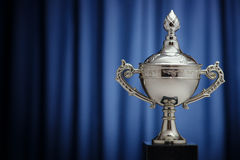 Silver Cup of the winner Royalty Free Stock Images