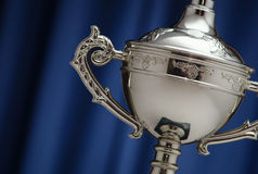 Silver Cup of the winner Royalty Free Stock Photography