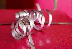 Silver curly ribbon Royalty Free Stock Photos