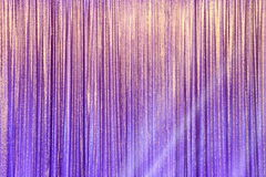 Silver Curtain Screen drape wave and lighting beam stock image