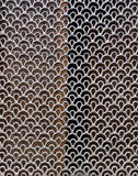 A decorative metal mesh. A decorative mesh made from metal Royalty Free Stock Photography