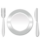 Silver cutlery Stock Photo
