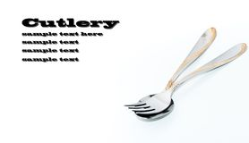 Silver cutlery Royalty Free Stock Photo