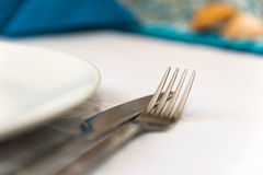 Silver cutlery Royalty Free Stock Images