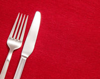 Silver cutlery Stock Images