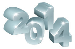 Silver 3D 2014 Ornaments. Illustration of 3D Silver 2014 number ornaments, could be used for new year designs or anything relating to the year 2014 vector illustration