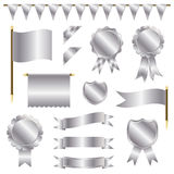 Silver decorations Stock Photo