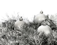 Silver decorations for Christmas Royalty Free Stock Image