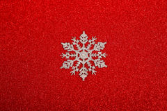 Silver decorative snowflake Royalty Free Stock Image