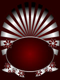 Silver and Deep Red Floral Backround Royalty Free Stock Images