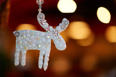 Silver deer decoration Royalty Free Stock Photography