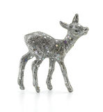silver deer on white background Stock Image