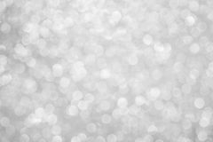 Silver defocused lights Royalty Free Stock Photography