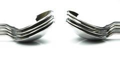 Silver Desert Spoons Stock Image