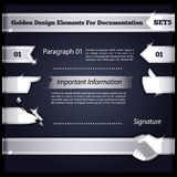 Silver Design Elements For Documentation Set5 Royalty Free Stock Image