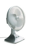 Silver_desk_fan Stock Images