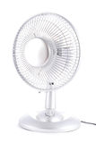 Silver desk fan. On white background royalty free stock photos