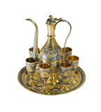 Silver dessert service Royalty Free Stock Photography