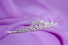 Silver diadem Stock Photos