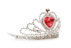 Silver diadem isolated Stock Images