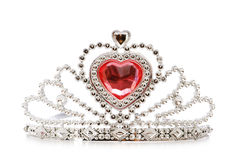 Silver diadem isolated on the white. Background Royalty Free Stock Photo