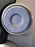 Silver Dial. Frontal view of dial on stereo system Stock Photography