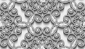 Silver diamond pattern Royalty Free Stock Images