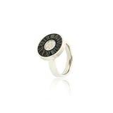 Silver diamond ring isolated on white Royalty Free Stock Photos