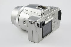 Silver digital camera Stock Photos